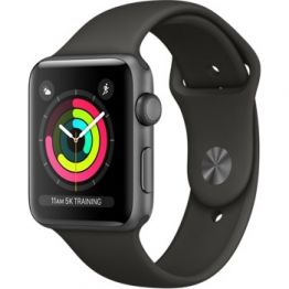 Apple Watch Series 3 GPS 42mm Space Gray Aluminum w. Gray Sport B. - Space Gray (MR362)
